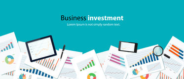 Business finance investment background banner concept Royalty Free Stock Images