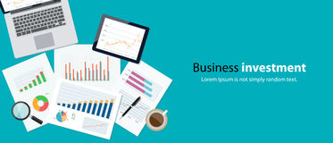 Business finance and investment banner concept Stock Photography