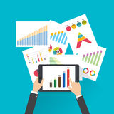 Business finance investment with charts and graphs. vector Royalty Free Stock Photography
