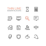 Business, Finance, Law Symbols - thick line design icons set. Business, finance, law symbols - set of modern vector thick line design icons and pictograms Royalty Free Stock Images