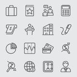 Business and Finance line icon Royalty Free Stock Photography