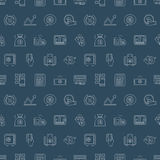 Business finance line icon pattern set. Vector illustration file Stock Photo