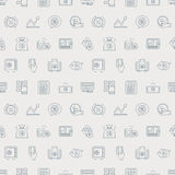 Business finance line icon pattern set Stock Photography