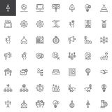 Business and Finance line icons set royalty free illustration