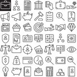 Business finance line icons set. Outline vector symbol collection, linear style pictogram pack. Signs, logo illustration. Set includes icons as redit card Stock Photography