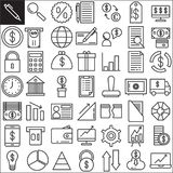 Business finance line icons set. Outline vector symbol collection, linear style pictogram pack. Signs, logo illustration. Set includes icons as business, money Stock Photos
