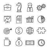 Business finance line icons Royalty Free Stock Photos