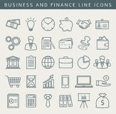 Business and finance line icons. Vector set. Stock Photos