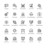 Business and Finance Line Vector Icons 5 Stock Images