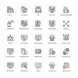 Business and Finance Line Vector Icons 12 Royalty Free Stock Photo