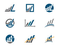 Business Finance Logo. Business Finance professional logo template with Bars Stock Image