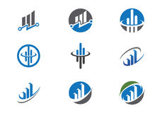 Business Finance Logo. Business Finance professional logo template with Bars Stock Photos