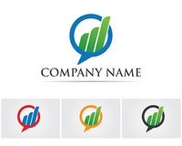 Business finance logo and symbols vector concept illustration.  Stock Photos