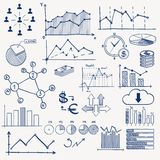 Business finance management infographics doodle Stock Photos