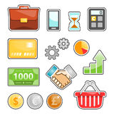 Business, finance, marketing, banking vector image set. For your projects Royalty Free Stock Photography