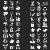 Business finance marketing internet shopping doodle icons. Vector doode sketch icons Business Finance Marketing Royalty Free Stock Images