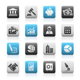 Business & Finance // Matte Icons Series Royalty Free Stock Photography