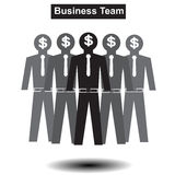 Business and finance  men team. Familyposter, power, presentation Royalty Free Stock Photography