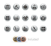Business & Finance // Metal Button Series Royalty Free Stock Images
