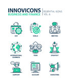 Business, finance modern thin line design icons and pictograms Stock Image