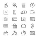 Business and Finance Money Icons Line. This is graphics vector Illustration icons Royalty Free Stock Image