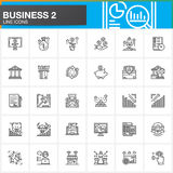 Business, finance, money, payments line icons set, outline vector symbol collection. Business, finance, money, payments line icons set, outline vector symbol Stock Image
