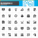 Business, finance, money vector icons set, modern solid symbol collection, filled style pictogram pack. Signs, logo illustration. Set includes icons as bank Royalty Free Stock Photography