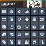 Business, finance, money vector icons set, modern solid symbol collection. Business, finance, money vector icons set, modern solid symbol collection, filled Stock Images