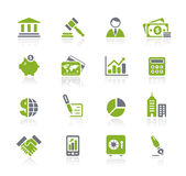 Business & Finance // Natura Series. Vector icons for your website or presentations Royalty Free Stock Photo