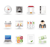 Business, finance and office icons Stock Image