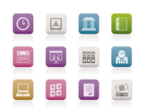 Business, finance and office icons Stock Photo