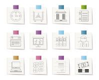 Business, finance and office icons vector illustration