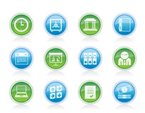 Business, finance and office icons Royalty Free Stock Photos
