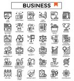 Business and finance outline design icon set. Business and finance outline design icon set for website, presentation, book etc Stock Photos
