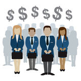 Business and finance people vector illustration Royalty Free Stock Photo