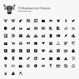 73 Business and Finance Pixel Perfect Icons Stock Photos