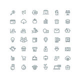 Business, finance, planning, analytics, banking, affiliate marketing vector line icons set. Marketing business icon, money savings icon, finance icon, buisness Royalty Free Stock Images