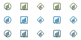 Business Finance professional logo template. Icon Royalty Free Stock Photography