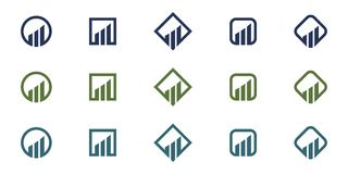 Business Finance professional logo template. Icon Royalty Free Stock Image