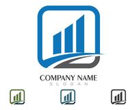 Business Finance professional logo template. Icon Royalty Free Stock Images