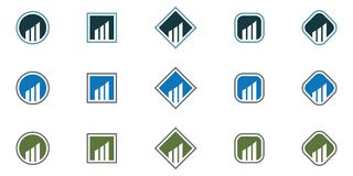 Business Finance professional logo template. Icon Royalty Free Stock Photos
