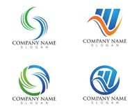 Business Finance professional logo template vector icon.  Royalty Free Stock Image