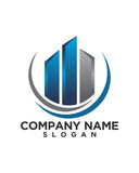 Business Finance professional logo vector. For financial business insurance abstract Royalty Free Stock Photos