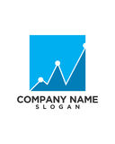Business Finance professional logo vector. For financial business insurance abstract Royalty Free Stock Photography