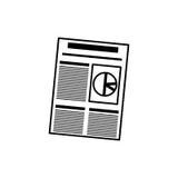 Business finance report. Icon  illustration graphic design Stock Photos