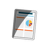 Business finance report. Icon  illustration graphic design Royalty Free Stock Image