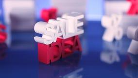 Sale promotion clip. Dolly shot.