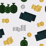 Business and finance seamless pattern. Background Royalty Free Stock Images
