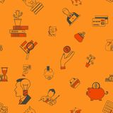Business and Finance Seamless Pattern. Simple and Minimalistic Style Royalty Free Stock Photos