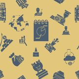 Business and Finance Seamless Pattern. Simple and Minimalistic Style Royalty Free Stock Photo